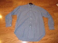 Mens Shirt Ralph Lauren Polo M Medium New Blue Check