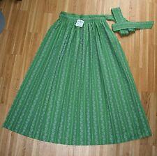 NEU lange HAMMERSCHMID Dirndl  Schürze  grün  mit  Rankenmuster 93cm