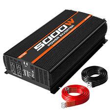 POTEK 5000W Power Inverter Four AC Outlets 12V DC to 110V AC Car Inverter&2 USB