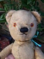 Antique chad valley labelled English jointed mohair teddy bear 14""