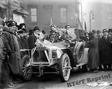 Photograph Vintage New York to Paris Race Car  & Lelouvier 1908 8x10