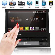 "SINGOLO 1DIN GPS NAV 7""HD FILP UP Touch Autoradio Radio MP3 Lettore MP5 Bluetooth"