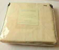 Luxury Home 1600 Series Egyptian Softness 4 piece twin sheet set cream deep pock