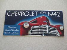 1942 Chevrolet automobile advertising booklet Special & Master Deluxe Fleetline