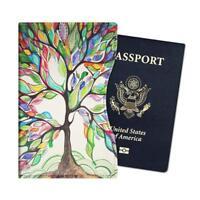 Passport Holder Slim Vegan Leather RFID Blocking Travel Wallet Case Cover