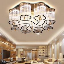 LED Modern K9 Clear Crystal Ceiling Light Pendant Lamp LED Chandelier Lighting