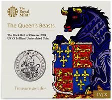 UK UNITED KINGDOM GREAT BRITAIN 5 POUNDS BLACK BULL OF CLARENCE 2018 BUNC