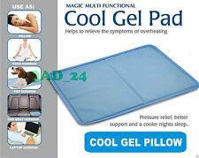 Gel Pillow Cooling Pad Heat Absorbing Hot Flush Mat Cool Cooler Eczema Rosacea