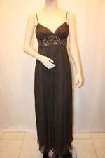 NEW BCBG CIGAR SILK BEADED LONG EVENING DRESS SIZE 2