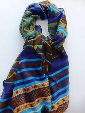 Bohemia blue cotton scarf wrap shawl