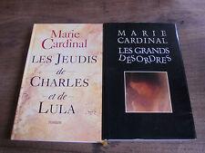 Lot de 2 livres de Marie Cardinal