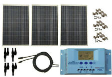 300 Watt 300W Solar Panel Kit with LCD Solar Controller 12V RV Boat Off Grid