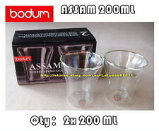 IN BOX BODUM ASSAM DOUBLE WALL CLEAR THERMO-GLASSES x2 200ML