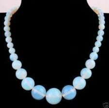 Beautiful 6-14mm Opal Round Gemstone Beads Necklace 18""