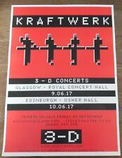 Kraftwerk - live band music show June 2017 promotional tour concert gig poster