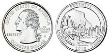 2010 D US Yosemite California America The Beautiful Quarter Dollar - 2 BU Coins