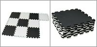 Puzzle Exercise Mat Non Slip Fitness Interlocking Rubber Floor Tile 10 Pieces
