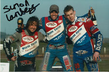 SIMON LAMBERT HAND SIGNED SCUNTHORPE SCORPIONS SPEEDWAY 6X4 PHOTO.