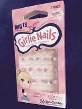 Fing'rs Girlie Nails - Tye Dye 31063 great for  halloween rockstar hippie 70's