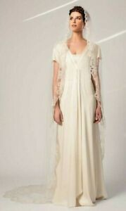 Temperley Smooth Silk Minimalist Flutter Wedding Dress Georgia Bridal Gown 10 38