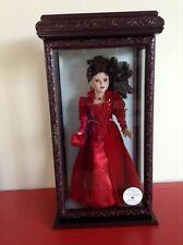 """Camelia Garden 16"""" Porcelain Doll w/Swarovski Jewelry & Display Case"""