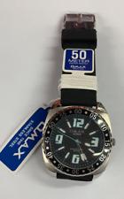 OMAX SUPREME  Quartz  Watch TS672 Stainless Steel  50m WR With OMAX Original Box
