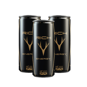 Rich Energy Haas F1 Caffeine Vitamin Drink (3 Cans) 250 ml