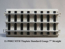 "MTH STANDARD GAUGE REALTRAX 7"" STRAIGHT TRACK Lionel Tinplate 11-99002 NEW"