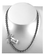 "DAVID YURMAN STERLING SILVER 18"" 5 mm ROLO CABLE CHAIN NECKLACE NEW BOX # 2N"