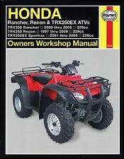 1997-2009 Honda Rancher Recon Sportrax Trx 250 350 Quad Atv Haynes Manual 2553