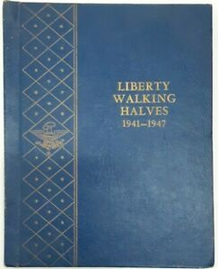 Complete Collection Vol 2 Walking Liberty Half Dollars 1941-47 Whitman Deluxe  B
