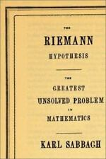 Riemann Hypothesis : The Greatest Unsolved Problem in Mathematics by Karl...