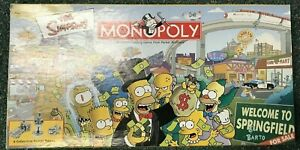 2001 Parker Brothers The Simpsons Monopoly with PEWTER TOKENS