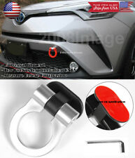 Silver Plastic Tape on Adjustable Decoration Tow Hook Ring For Ford Chevy Dodge