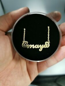 Customise 2.2 mm Thick Chain 9 karat GOLD name necklace