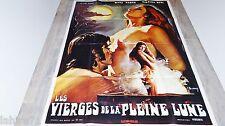 LES VIERGES DE LA PLEINE LUNE  ! affiche cinema  vintage 1972 rare