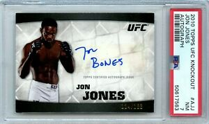 "2010 Topps UFC Knockout Jon Jones Auto Signed ""Bones"" 124/188 #A-JJ PSA 7 POP 2"