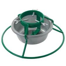 """Euro 4"""" Christmas Tree Stand Green with Grey Bowl for Trees Up To 5ft / 150cm"""