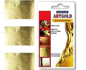 100 sheets 7X5 Imitation Gold  Leaf sheets Gilding