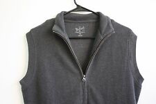 Woolrich Zip Up Mens Thermal Sleeveless Vest Gray Size Small