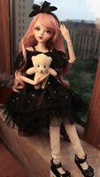 60cm 1/3 BJD Puppen Prinzessin Doll + Veränderbare Augen + Perücken + Kleidung