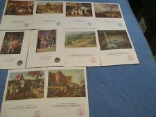 Lot de 10 plaquettes publicitaire collection des laboratoires SPECIA Napoléon 1e