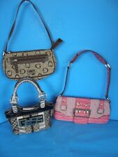 LOT OF 3 GUESS LADIES PRE-OWNED  HANDBAGS IN GOOD CONDITION
