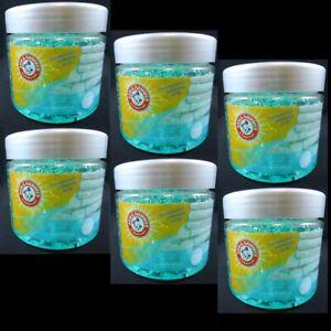 6 Arm & Hammer Gel Aroma Beads Freshens Air Neutralizes Odor Fresh Linen 5.64 oz