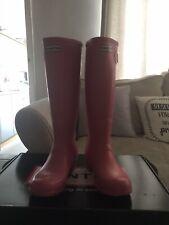 Ladies Pink Hunter Wellies Size 7