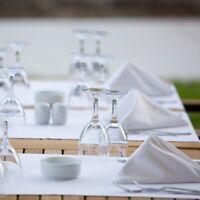 12 EACH RESTAURANT DINNER CLOTH LINEN NAPKINS WHITE 20''X 20'' 100% POLYESTER