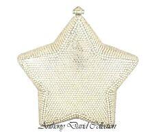 Anthony David USA Silver Star Crystal Handbag Evening Bag w/ Swarovski Crystals