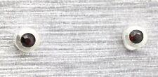 Ohrstecker Granat   RUND    925  Sterling Silber