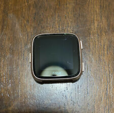 Fitbit Versa Rose Gold Aluminium Case Smartwatch - Pebble Only