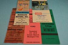 Car - Truck Dealers Lot of 5 Matchcovers match book covers Auto Dealerships